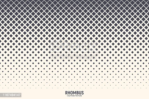 istock Halftone Rhombus Vector Abstract Geometric Technology Background 1167494147
