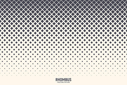 Halftone Rhombus Vector Abstract Geometric Technology Background