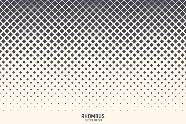 stockillustraties, clipart, cartoons en iconen met halftone rhombus vector abstracte geometrische technologie achtergrond - pattern