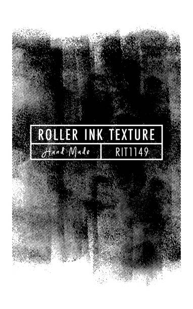 halftone roller ink vector texture (hand made) - виньетка stock illustrations