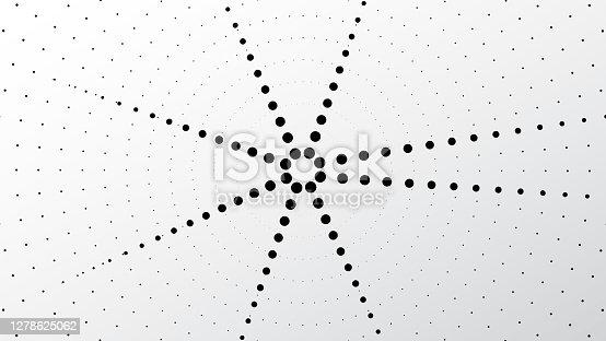 istock Halftone round element isolated on white background. 1278625062