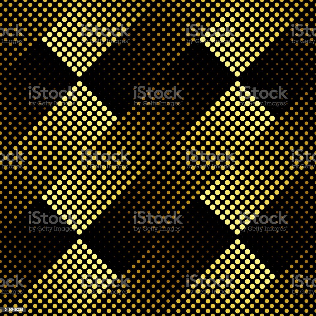 Halftone seamless pattern vector art illustration