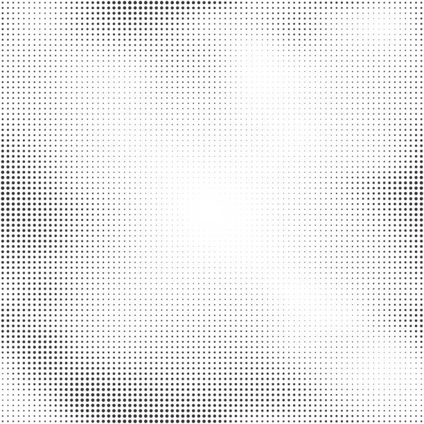 halftone seamless vector background. abstract halftone effect with black dots - half tone stock illustrations, clip art, cartoons, & icons