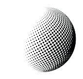 halftone shape vector logo symbol, icon, design.