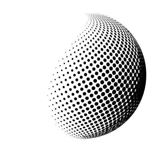 halftone shape vector logo symbol, icon, design. - abstract clipart stock illustrations