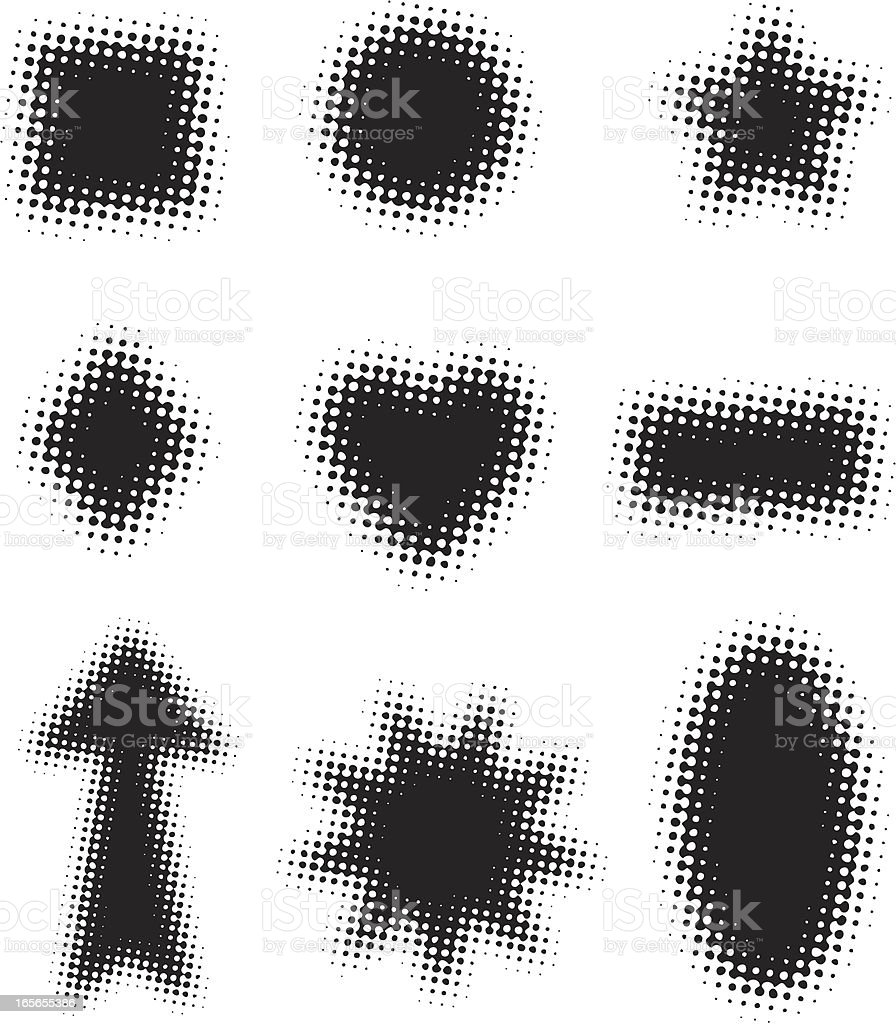 Halftone Shapes royalty-free stock vector art