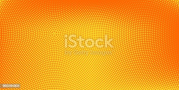 Halftone spotted background