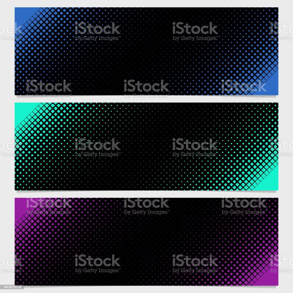 Halbton Quadratisches Muster Vorlage Bannergestaltung Set ...