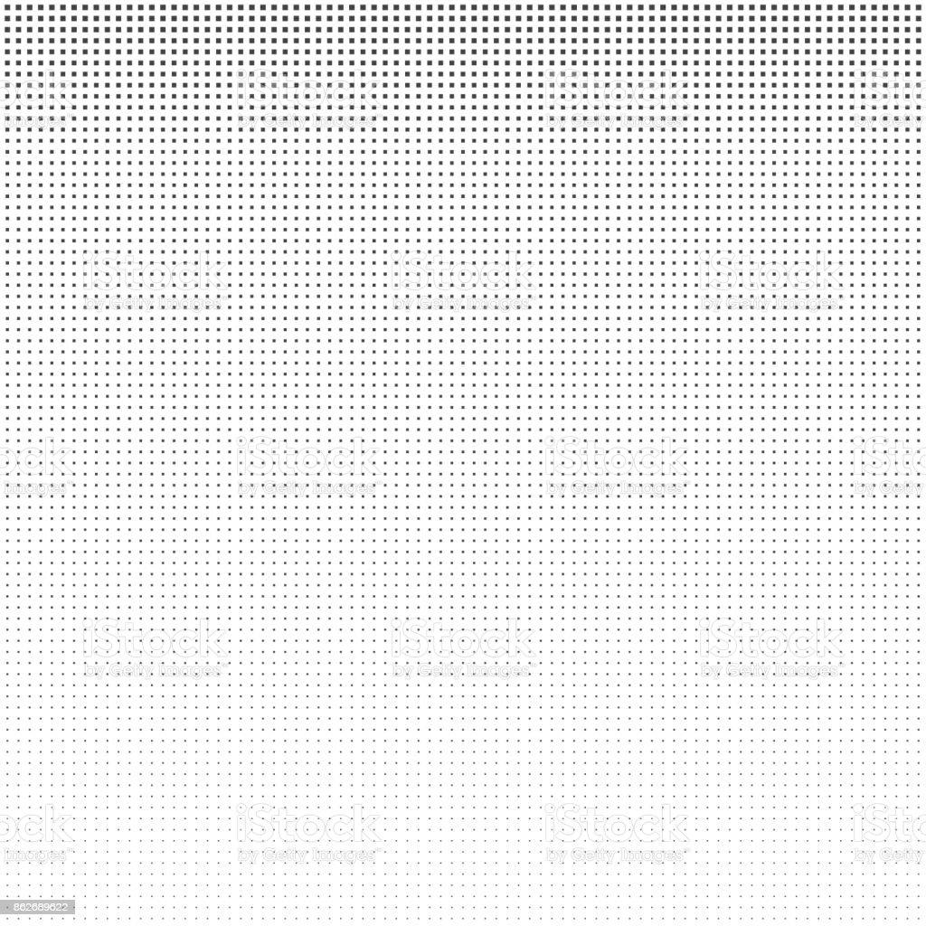 Halftone square vintage retro gradients pattern. Monochrome pop art vector illustration