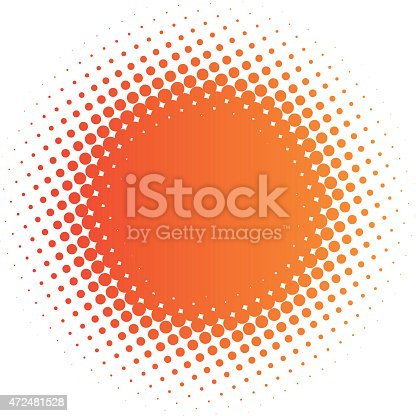 halftone sun (vector design element)