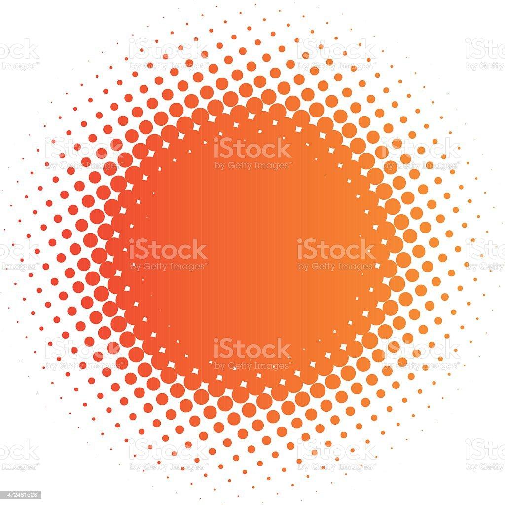 halftone sun vector art illustration