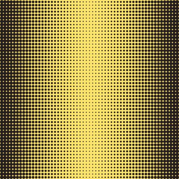 Halbton-Textur. Rasterpunkte. Halbton-Effekt. – Vektorgrafik