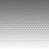 halftone triangle pattern.
