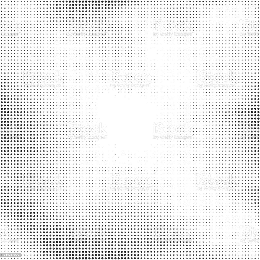 Halftone vector background. Abstract halftone effect with black dots on vector art illustration