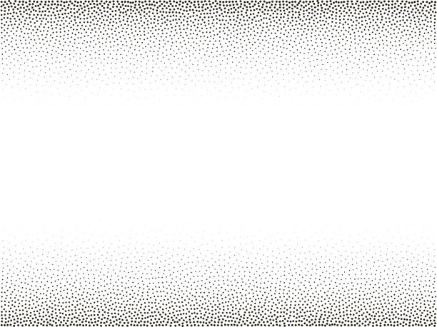 stockillustraties, clipart, cartoons en iconen met halftone vector achtergrond. monochroom halftoonpatroon. abstracte geometrische stippen achtergrond. pop art komische kleurovergang zwart wit textuur. ontwerp voor presentatie banner, flyer, visitekaartjes, stickers - klein