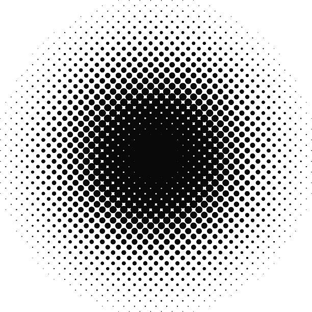halftone vector art illustration
