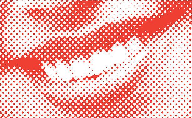 Halftone Vector Smile vector art illustration