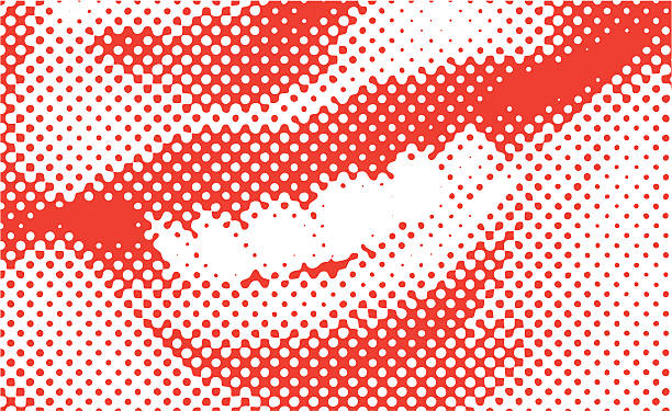 halftone vector smile - toothy smile stock illustrations