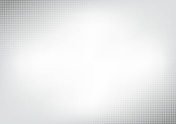 halftone vector technology background - szare tło stock illustrations