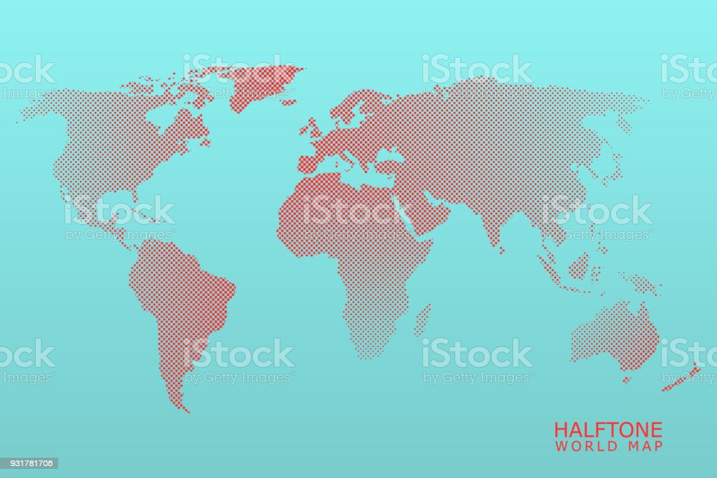 Halftone vector world map stock vector art more images of abstract halftone vector world map royalty free halftone vector world map stock vector art amp gumiabroncs Image collections