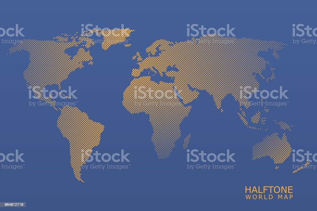 Halftone vector world map royalty-free halftone vector world map stock vector art & more images of abstract
