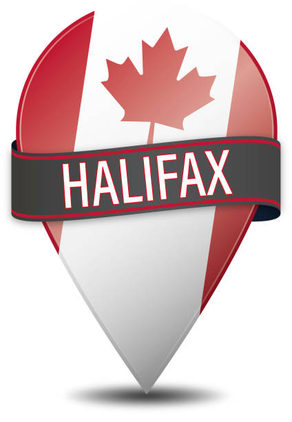 halifax web navigatiion pin on white background vector art illustration