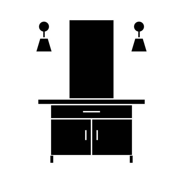 halle-symbol, vektor-illustration, isolierte hintergrund anmelden - schultischrenovierung stock-grafiken, -clipart, -cartoons und -symbole