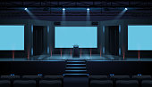 istock Hall of business conference with screen template 1277577337