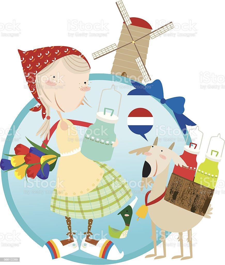 hallo holland! - Royalty-free Alleen kinderen vectorkunst