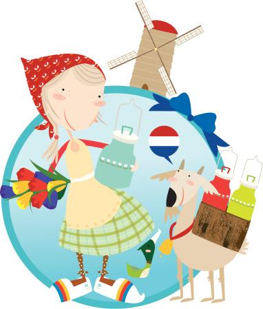 Hallo Holland Stockvectorkunst en meer beelden van Alleen kinderen