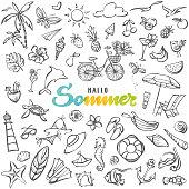 istock Hallo Sommer – Hello summer in german language 1250722255