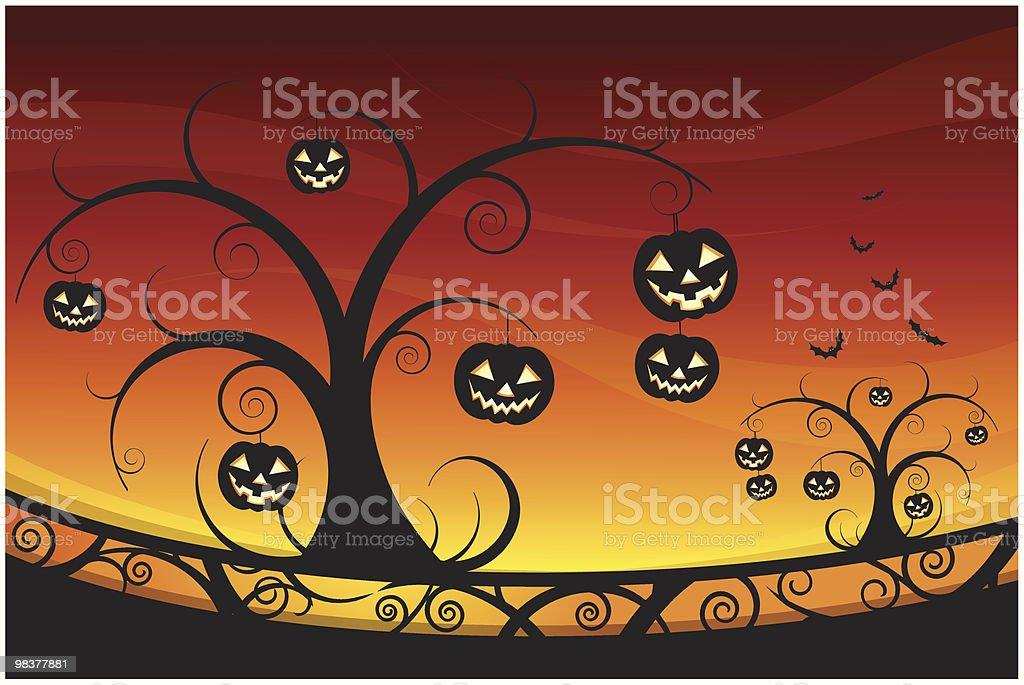 halloween astratto halloween astratto - immagini vettoriali stock e altre immagini di albero royalty-free