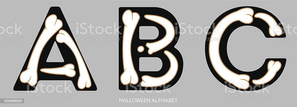 Halloween Alphabet Letters Abc stock vector art 503565003 | iStock