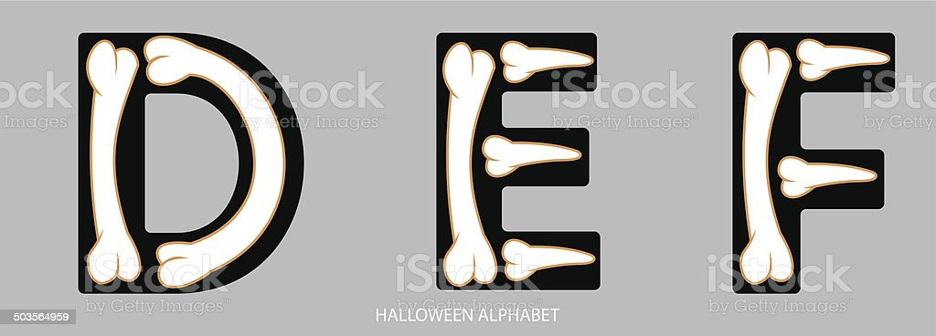Halloween Alphabet Letters Def Stock Vector Art & More Images of ...