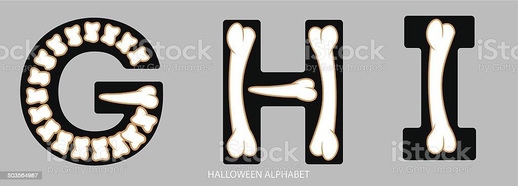 Ungewöhnlich Halloween Alphabet Buchstaben Zeitgenössisch - Ideen ...