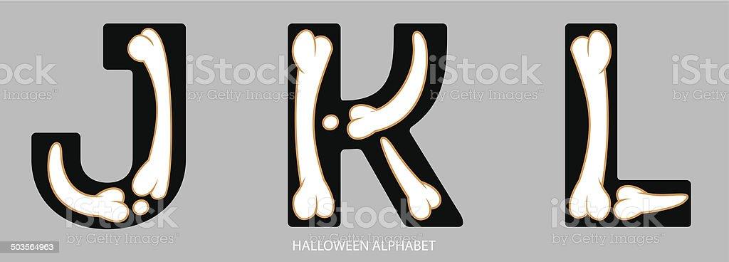 Halloween Alphabet Buchstaben Jkl Vektor Illustration 503564963 | iStock