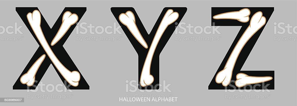 Halloween Alphabet Letters Xyz Stock Vector Art & More Images of ...