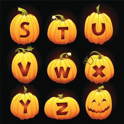 Halloween Alphabet S to Z
