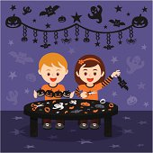Halloween art and craft fun