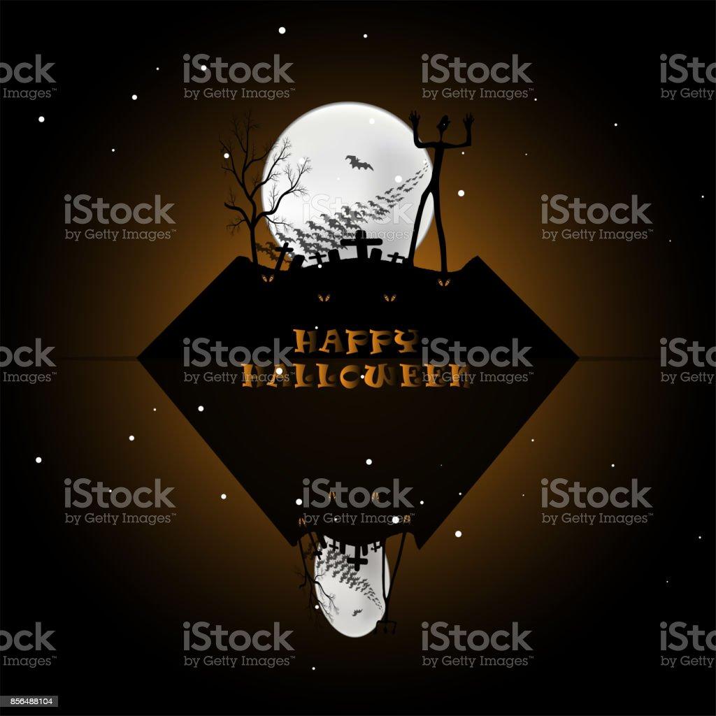Halloween backgound vector art illustration