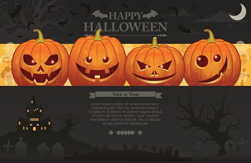 Halloween background [Jack o' Lantern]