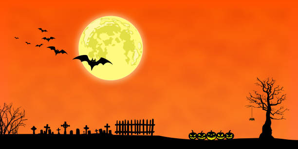 cadılar bayramı arka plan - halloween background stock illustrations
