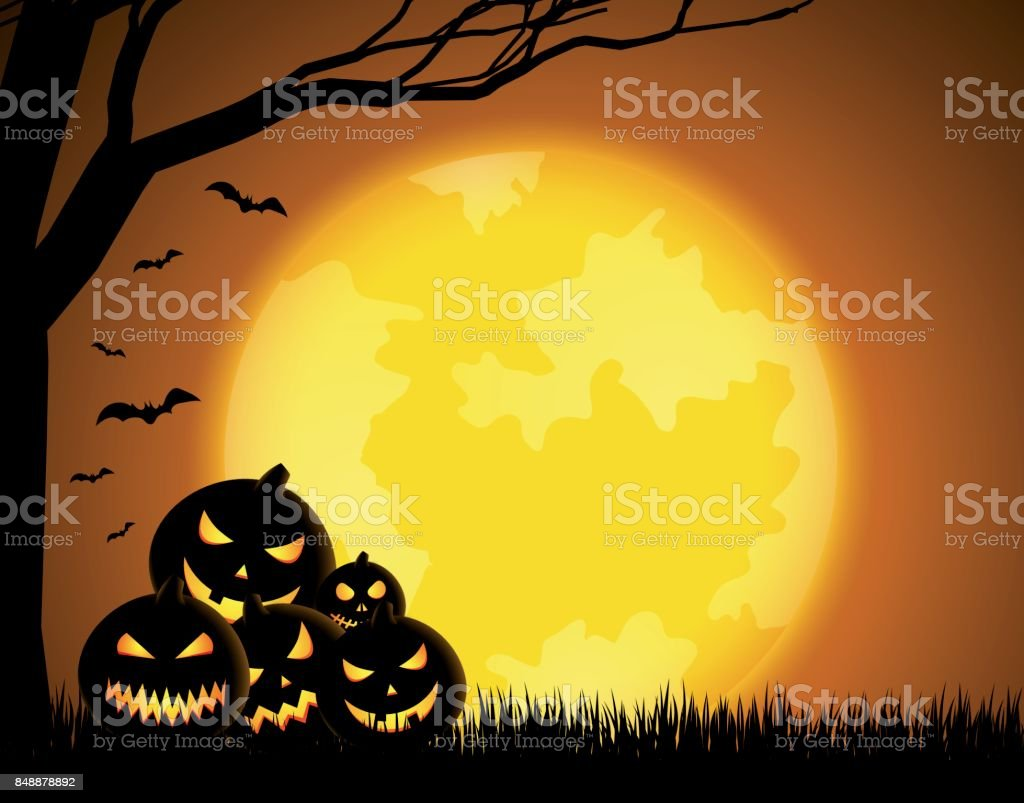 Halloween background vector art illustration