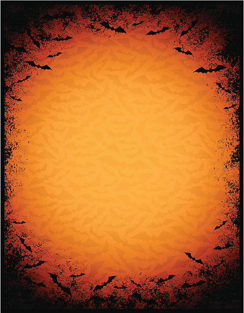 Halloween background with bat silhouettes vector art illustration