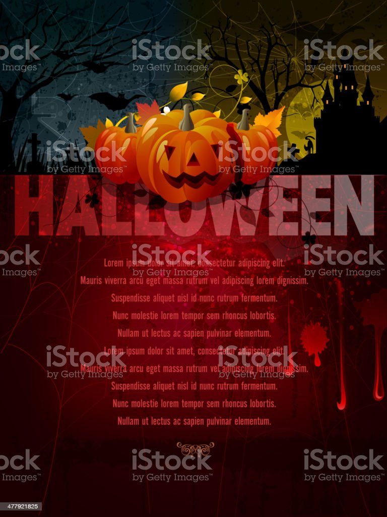 Halloween Background with Copy space royalty-free stock vector art