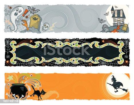 istock Halloween Banners 165749116