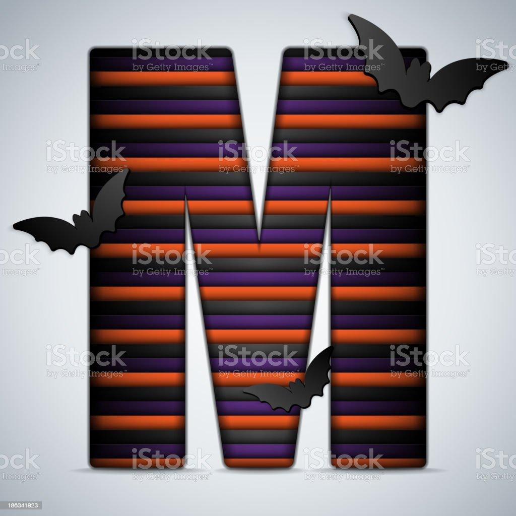 Halloween Bat Alphabet Letters Stripe Black Orange Purple royalty-free halloween bat alphabet letters stripe black orange purple stock vector art & more images of alphabet