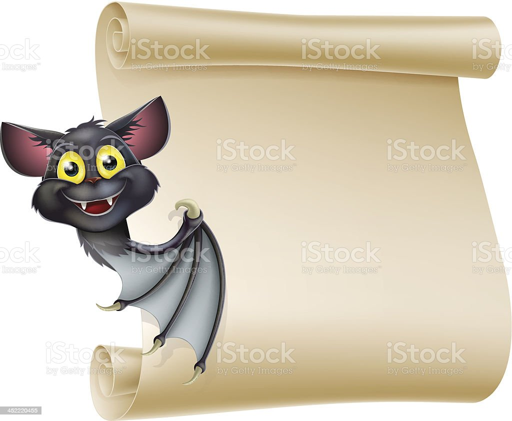 Halloween Bat Scroll royalty-free halloween bat scroll stock vector art & more images of animal