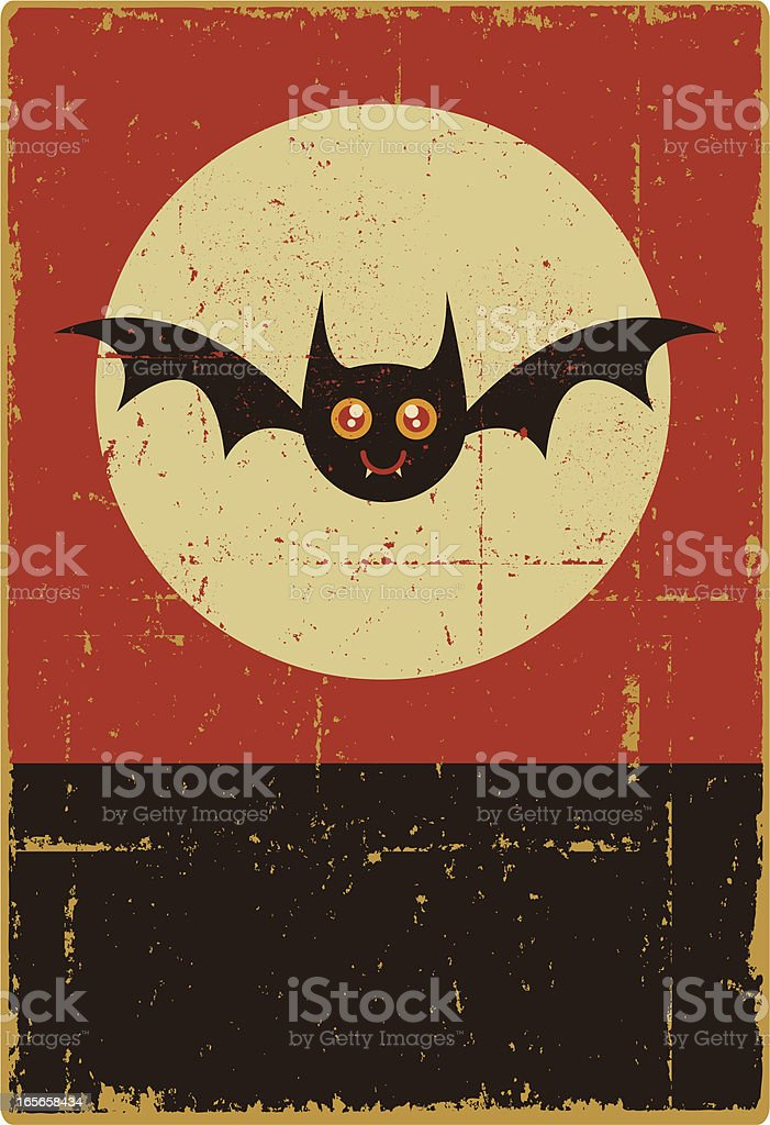 Halloween Bat Sign vector art illustration