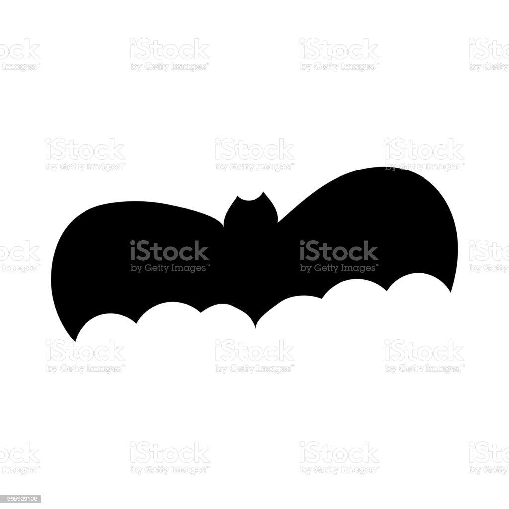 halloween bat silhouette illustration royalty free halloween bat silhouette illustration stock vector art